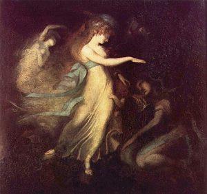 """Prinz Arthur und die Feenkönigin"" (""Prince Arthur and the Fairy Queen"") by Johann Heinrich Füssli ca 1788"