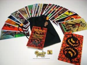 Halloween Tarot Cards - 22 Card Major Arcana Deck (With Handmade Tarot bag) by OraclesForest