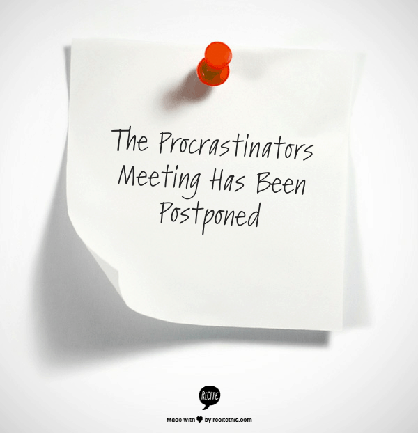 Are you a master procrastinator?