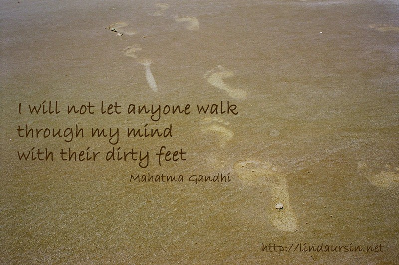 Sassy Sayings - I will not let anyone walk through my mind with their dirty feet https://lindaursin.net