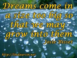 Dreams come in a size too big - Sassy Sayings https://lindaursin.net
