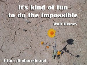 It's kind of fun to do the impossible - Sassy Sayings - https://lindaursin.net