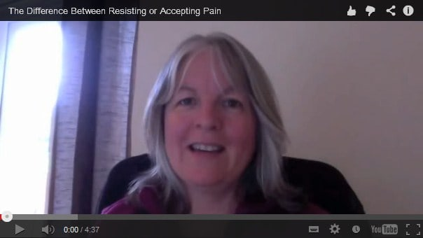 The difference between resisting or accepting pain