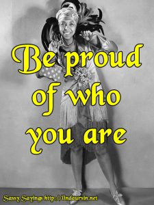 Be proud of who you are - Sassy Sayinigs https://lindaursin.net