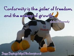 Conformity is the jailer of freedom... - Sassy Sayings - https://lindaursin.net