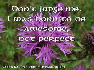 Don't judge me, I was born to... Sassy Sayings https://lindaursin.net #sassysayings #quotes