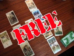 An invitation to a Tarot reading