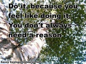 Do it because... Sassy Sayings https://lindaursin.net #quotes #sassysayings