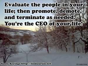 Evaluate the people...Sassy Sayings in the snow https://lindaursin.net #quotes #sassysayings
