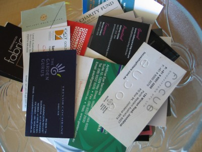 Reuse business cards for intuition based decisions