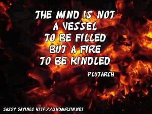 The mind is not a vessel... Sassy Sayings https://lindaursin.net