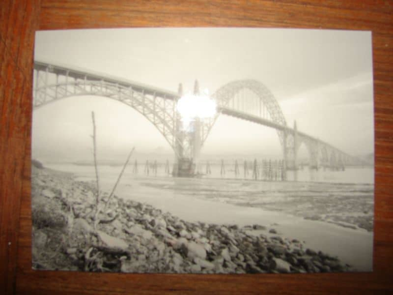 A photo of the Bay Bridge in Newport, Oregon by Robert Bicknell