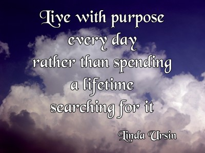 Live with purpose instead of searching