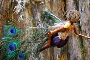 Fairy made from natural materials
