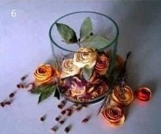 Finished orange peel roses