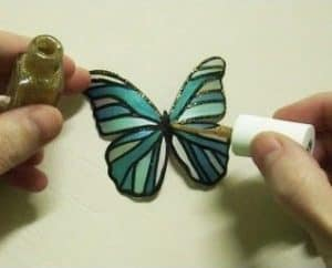 A butterfly made from an old plastic bottle