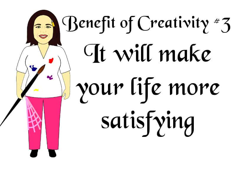 Creativity makes you more satisfied