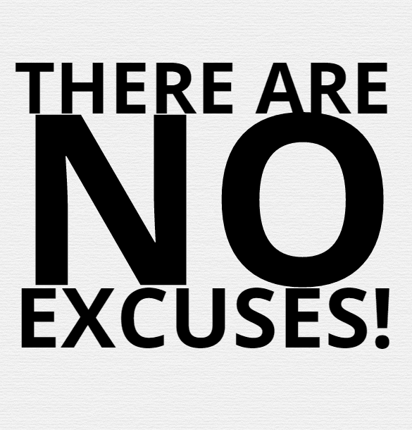 I can't because…don't let excuses stop you
