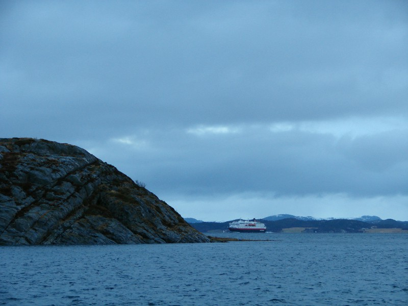 Hurtigruten is a cruise going up and down the coast of Norway