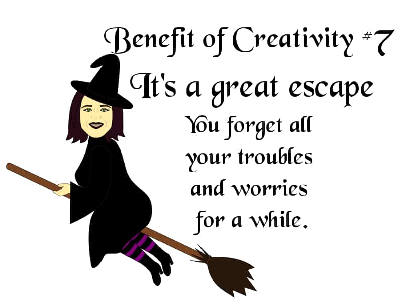 Creativity is a great escape