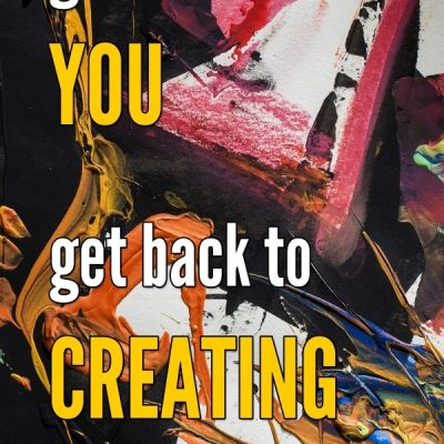 I'm publishing two books in March - get back to YOU – get back to CREATING