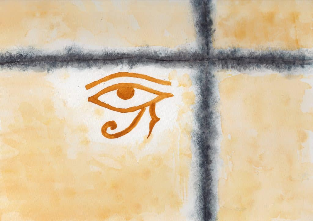 Eye of Horus - 100 Sacred Symbols in Watercolour by Linda Ursin