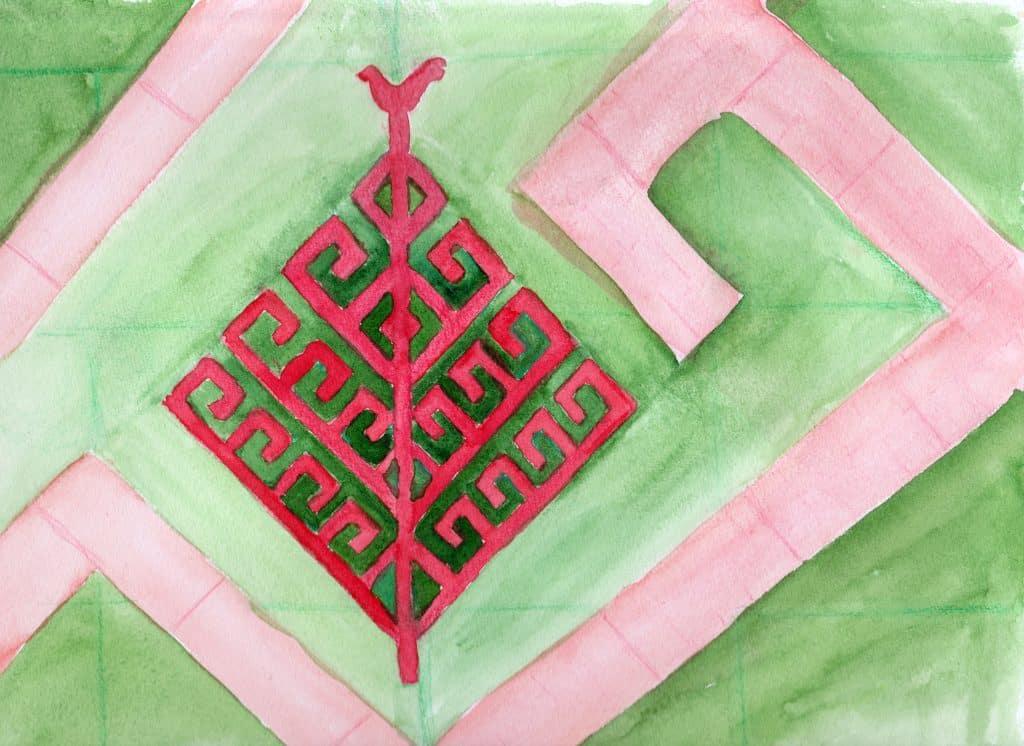 Yggdrasil - 100 Sacred Symbols in Watercolour by Linda Ursin