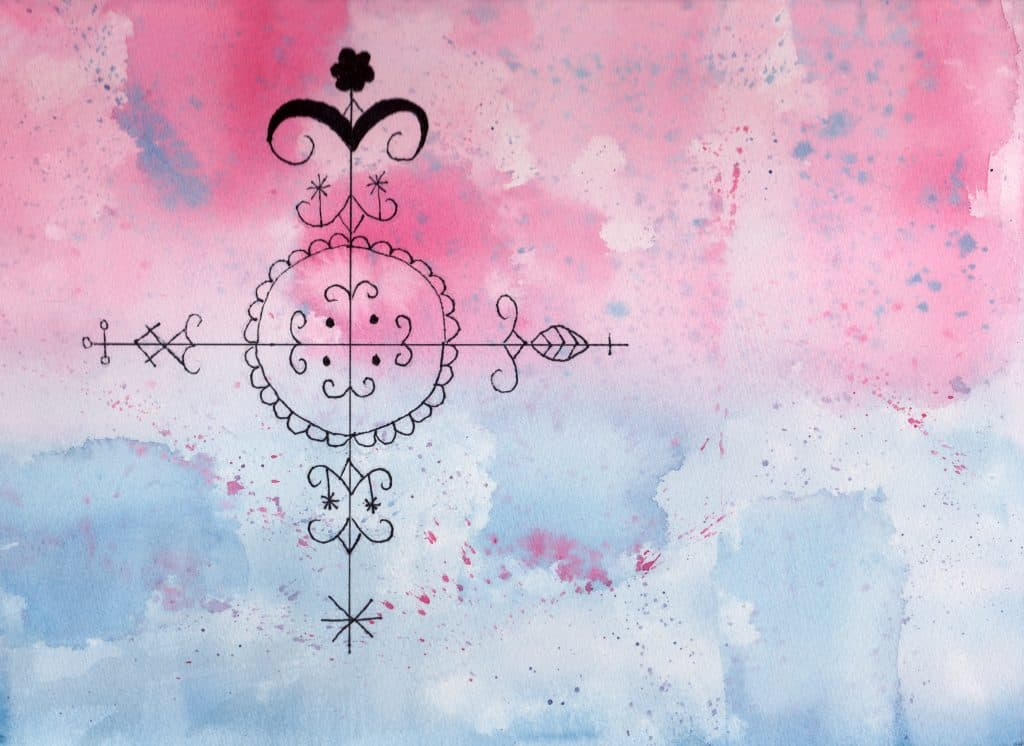Simbi Veve - 100 Sacred Symbols in Watercolour by Linda Ursin