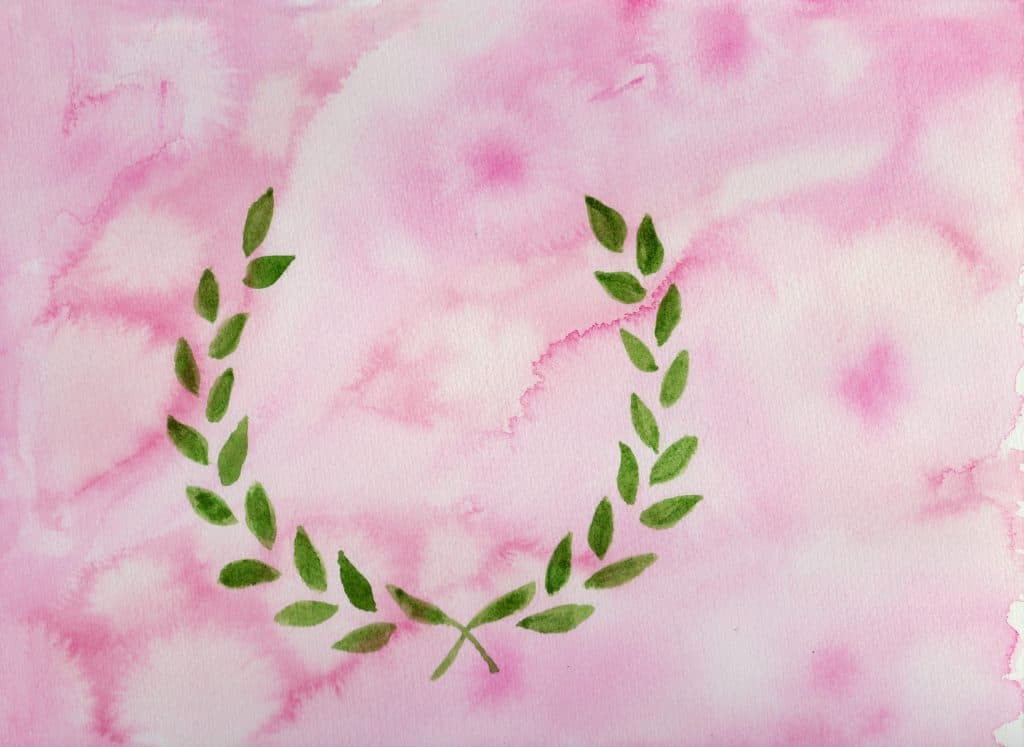 Laurel Wreath - 100 Sacred Symbols in Watercolour by Linda Ursin