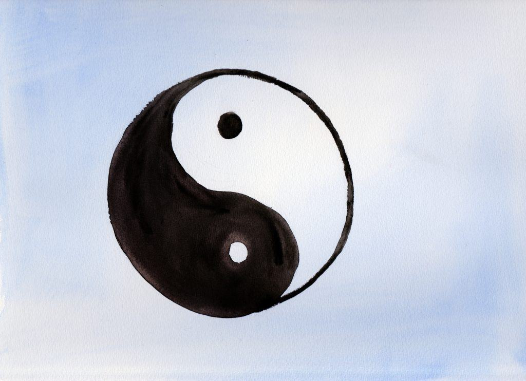 Yin and Yang - 100 Sacred Symbols in Watercolour by Linda Ursin