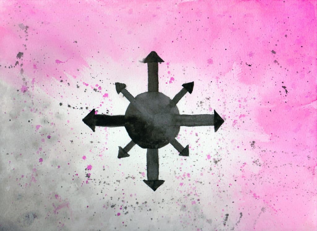 Chaos Star - 100 Sacred Symbols in Watercolour by Linda Ursin