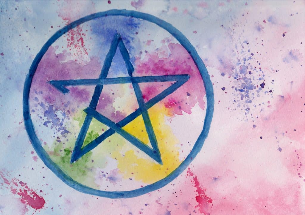 Pentagram - 100 Sacred Symbols in Watercolour by Linda Ursin