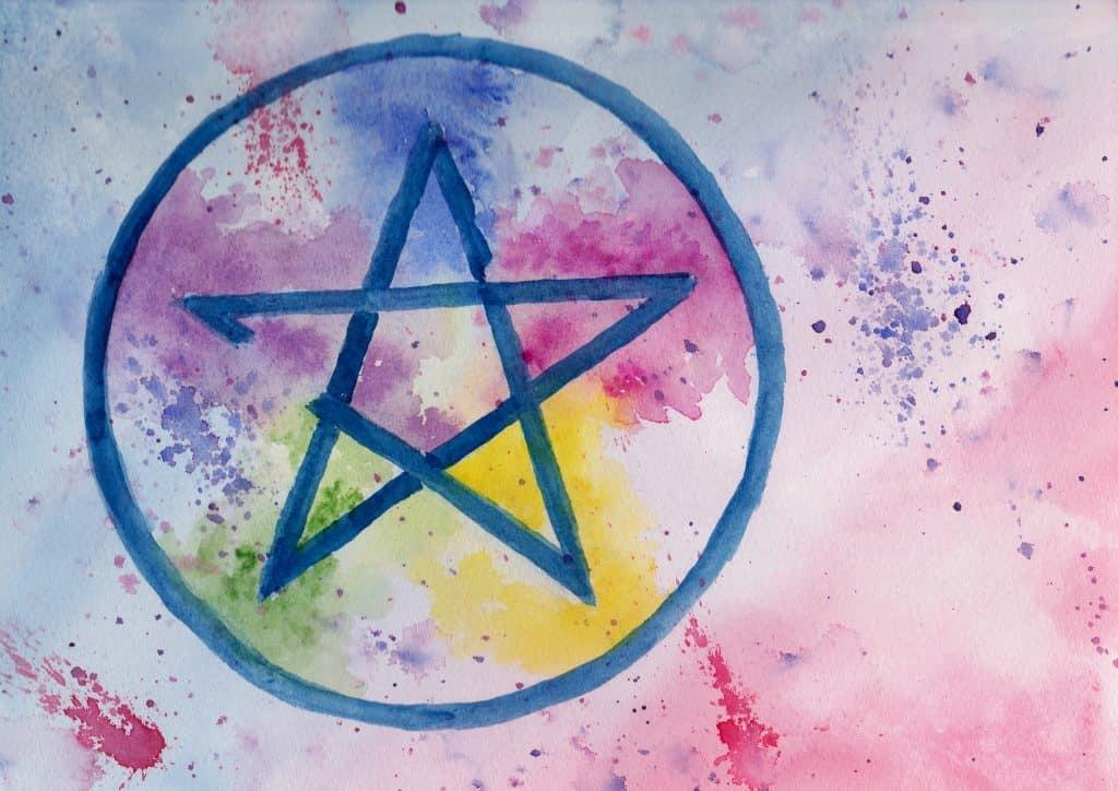Pentagram - 100 Sacred Symbols in Watercolour by Linda Ursin