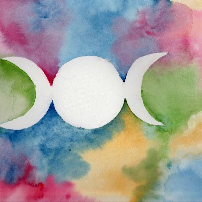 Triple Moon - 100 Sacred Symbols in Watercolour by Linda Ursin