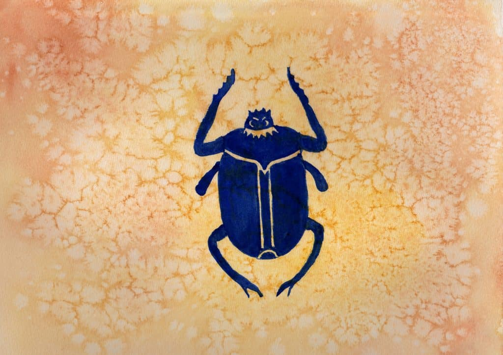 Scarab - 100 Sacred Symbols in Watercolour by Linda Ursin