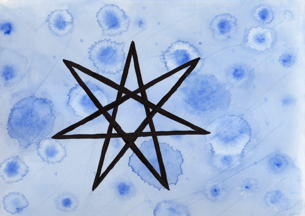 Elven Star - 100 Sacred Symbols in Watercolour by Linda Ursin