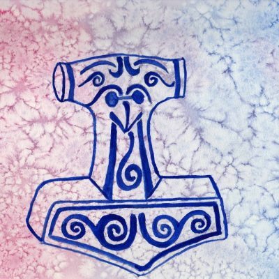 Thor's Hammer - 100 Sacred Symbols in Watercolour by Linda Ursin