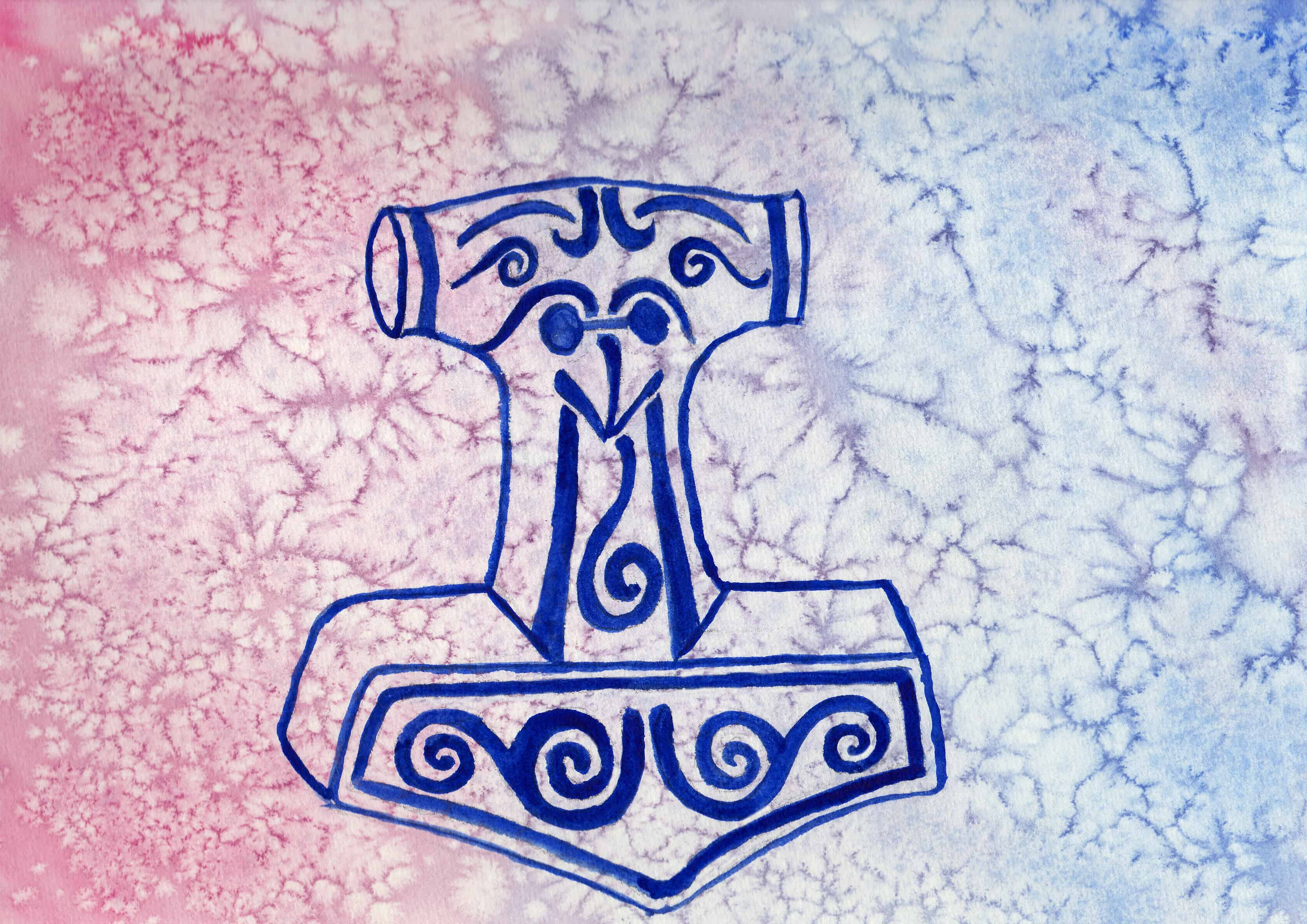 Thors hammer 100 sacred symbols by linda ursin thors hammer 100 sacred symbols in watercolour by linda ursin buycottarizona Choice Image