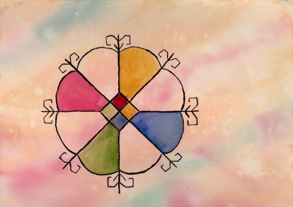 Saules Zime - 100 Sacred Symbols in Watercolour by Linda Ursin