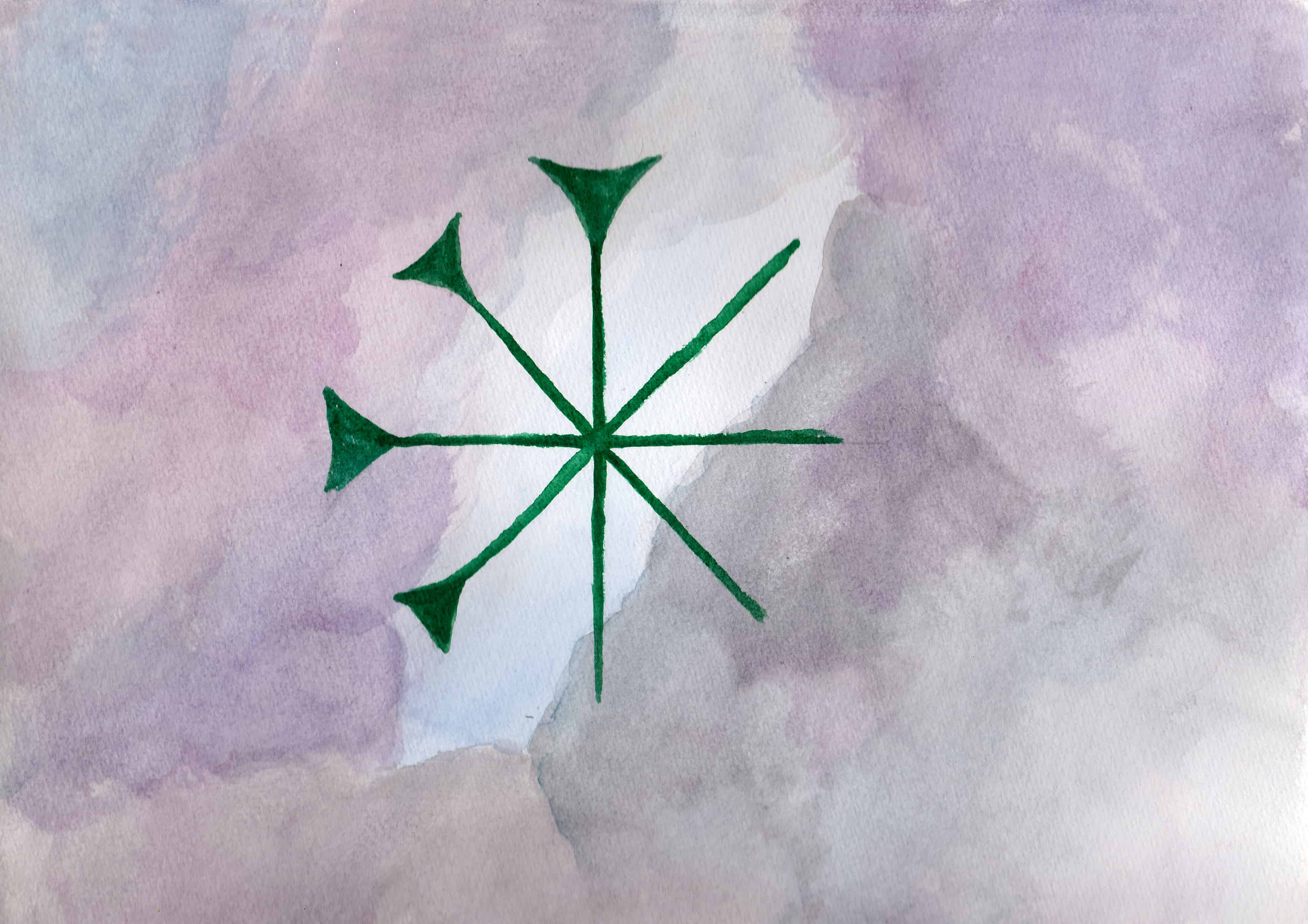 Anu Cuneiform - 100 Sacred Symbols in Watercolour by Linda Ursin