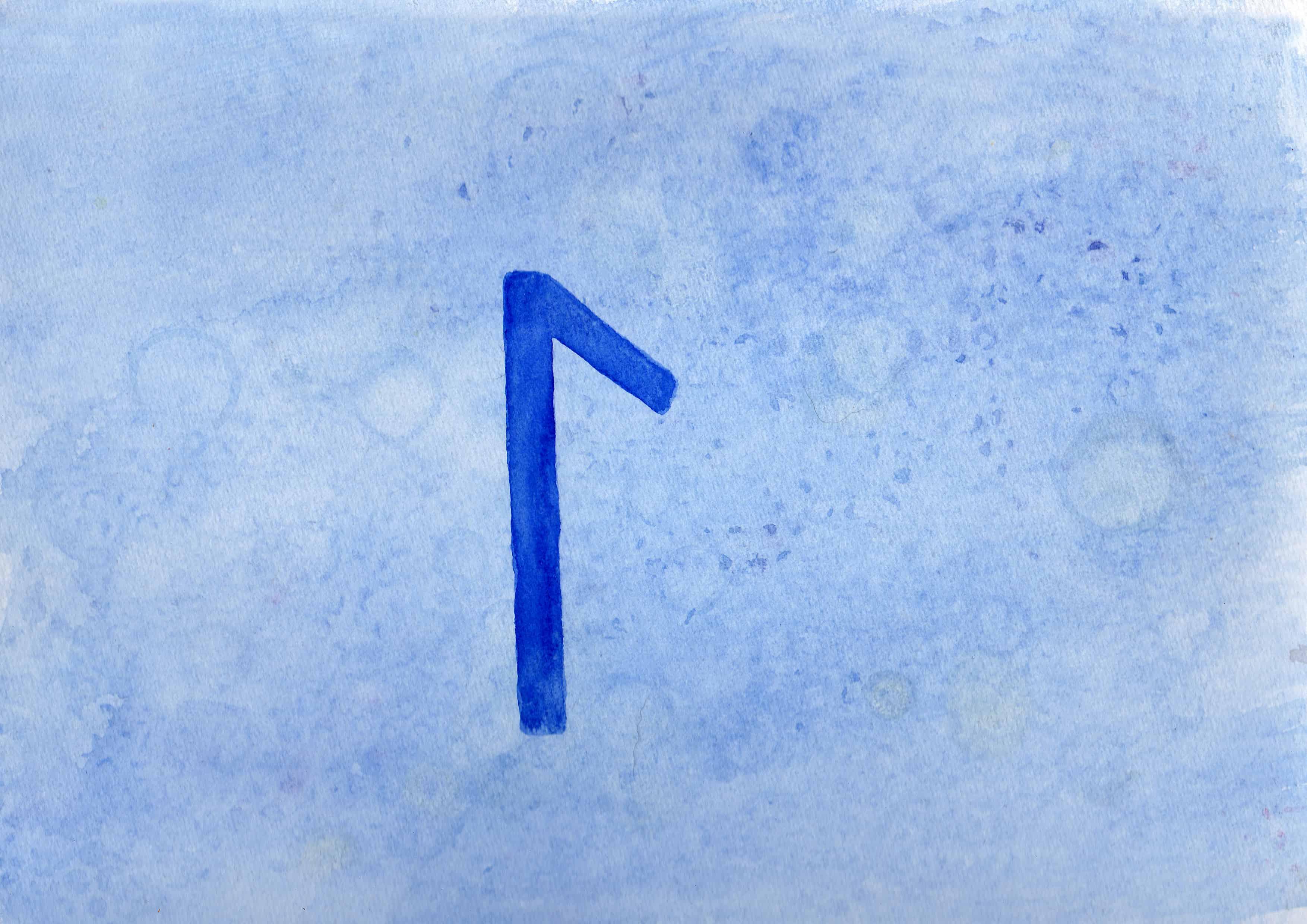 Laugr - 100 Sacred Symbols in Watercolour by Linda Ursin