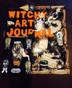 witchy art journal by lisa davis-woolwine