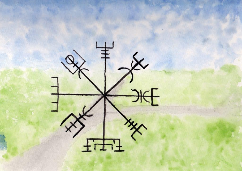 Vegvisir - 100 Sacred Symbols in Watercolour by Linda Ursin
