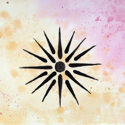 Vergina Sun - 100 Sacred Symbols in Watercolour by Linda Ursin