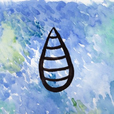 Raindrop - 100 Sacred Symbols in Watercolour by Linda Ursin