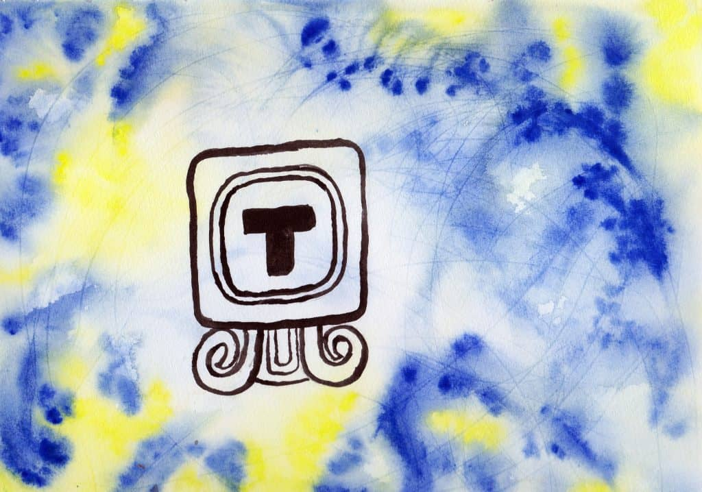 Wind - 100 Sacred Symbols in Watercolour by Linda Ursin