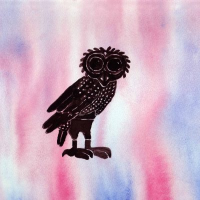 Athena's Owl - 100 Sacred Symbols in Watercolour by Linda Ursin