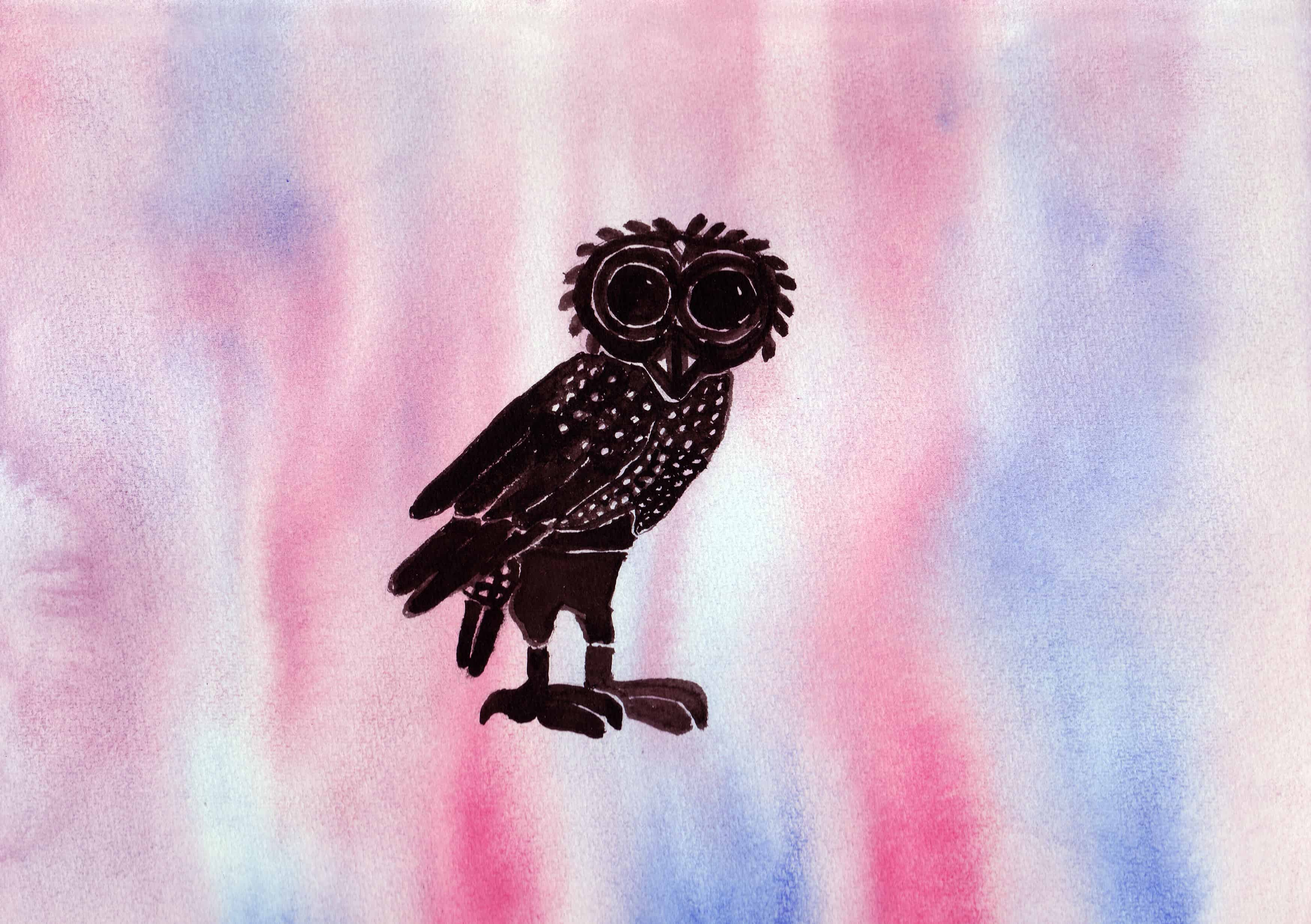 Athena's Owl - 100 Sacred Symbols in Watercolour by Linda Ursin