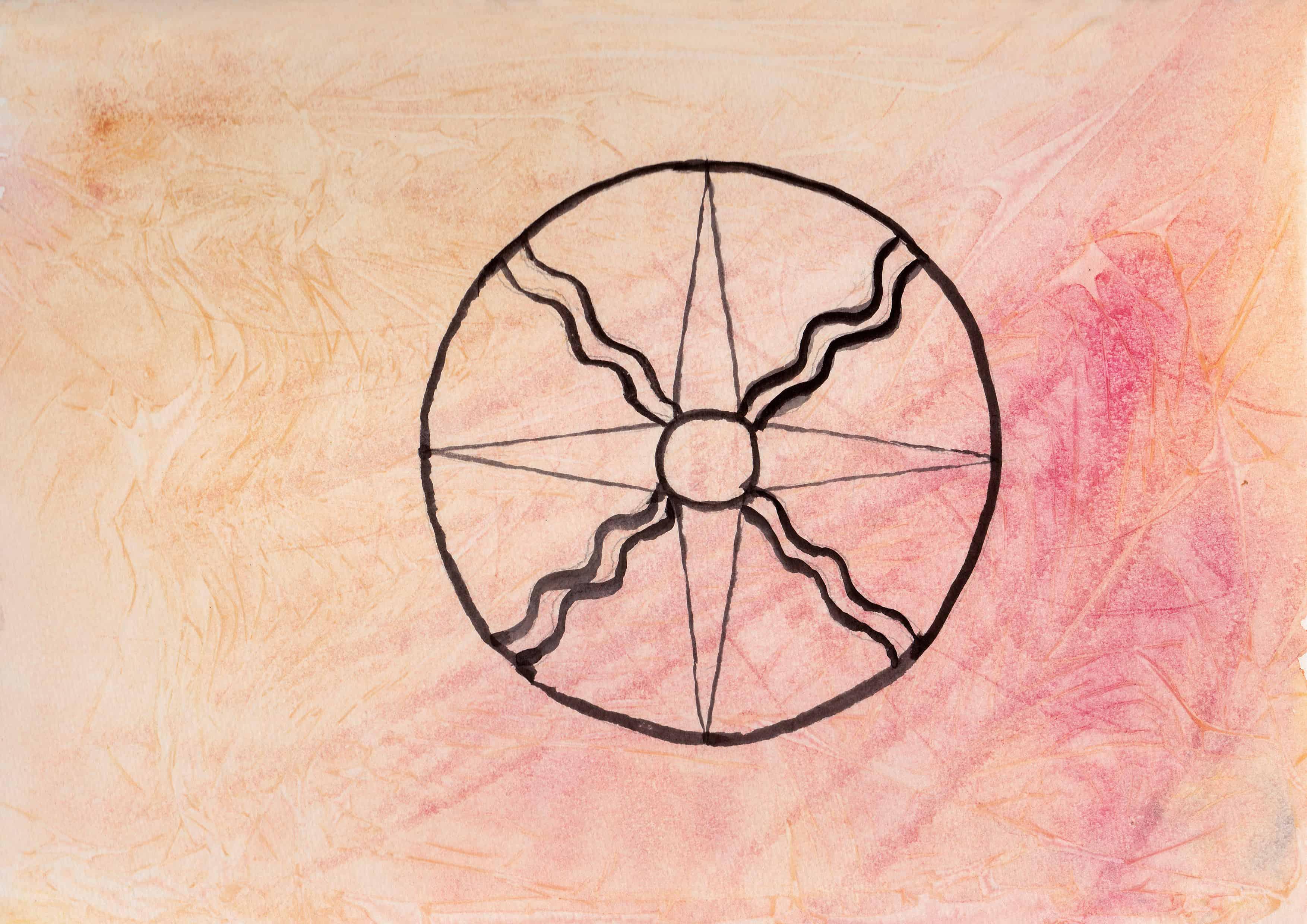 Shamash Sun - 100 Sacred Symbols in Watercolour by Linda Ursin