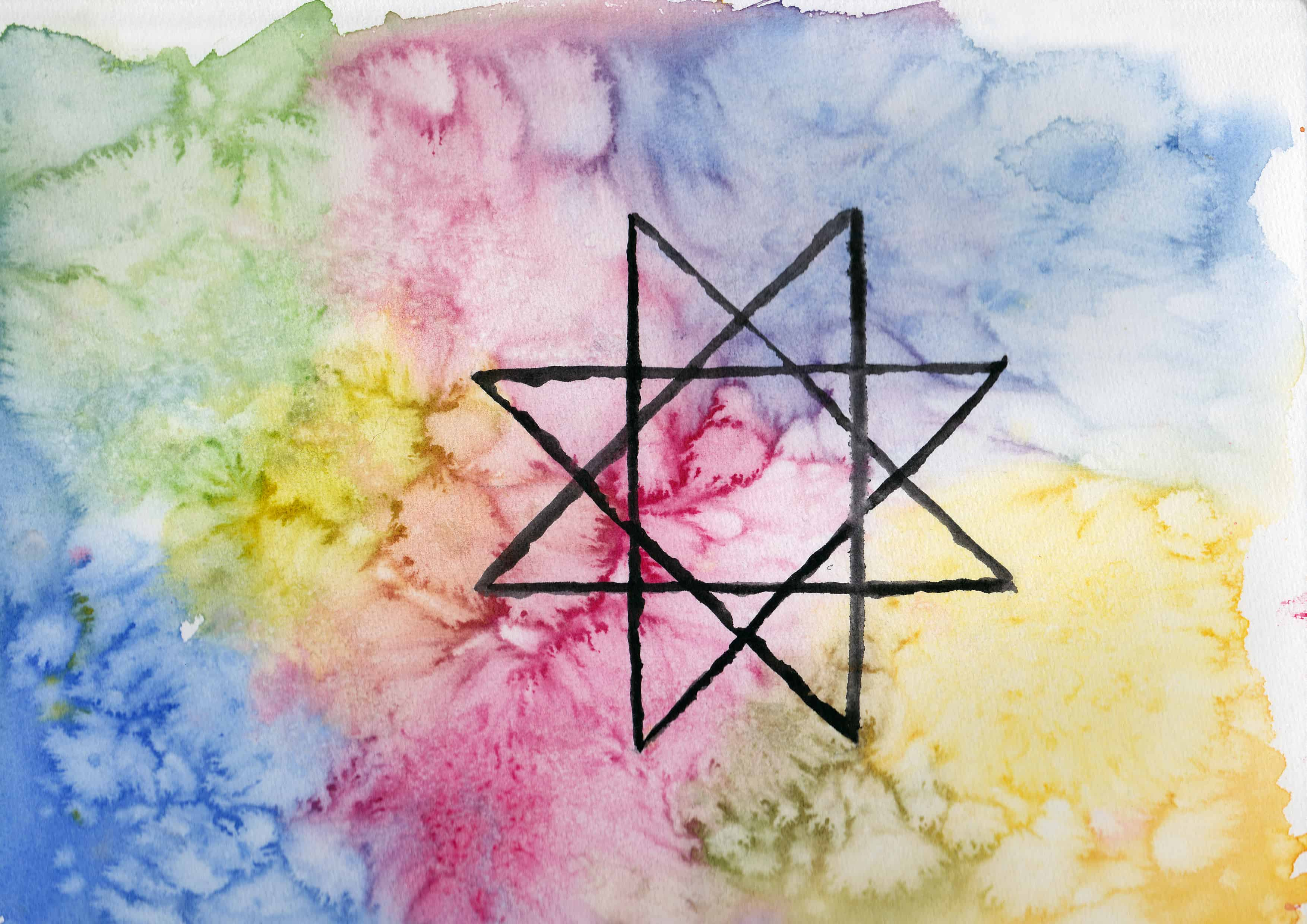 Ogdoad/Zodiac of Ra - 100 Sacred Symbols in Watercolour by Linda Ursin